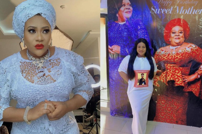 Video Of Nkechi Blessing Praying That Her Mother Never Dies Early